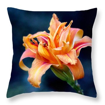Throw Pillow featuring the photograph Day Lily by Irina Hays