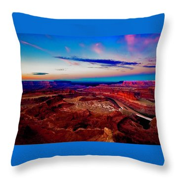 Throw Pillow featuring the photograph Dead Horse Point by Norman Hall