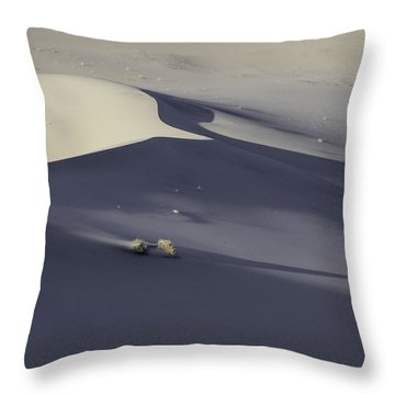 Death Valley Sand Dune At Sunset Throw Pillow