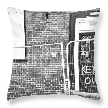 Demolition Site Throw Pillow
