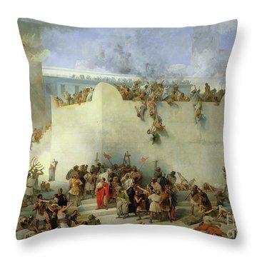 Destruction Of The Temple Of Jerusalem Throw Pillow