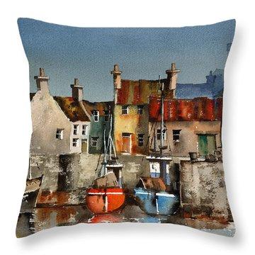 Dingle Harbour, Kerry Throw Pillow