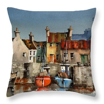 Dingle Harbour, Kerry Throw Pillow
