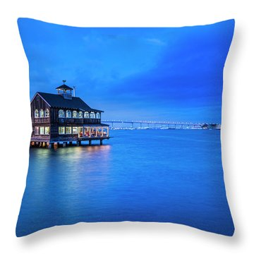 Throw Pillow featuring the photograph Dinner On The Bay by Dan McGeorge
