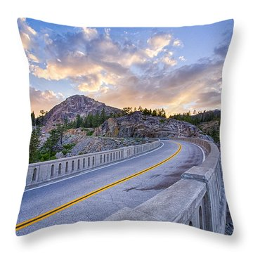 Donner Memorial Bridge Throw Pillow