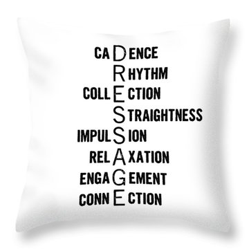 Dressage Pyramid Definition Throw Pillow