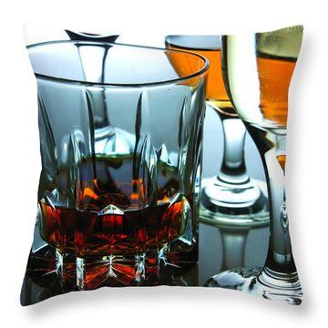 Drinks Throw Pillow by Jun Pinzon