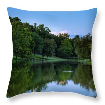 2 Ducks Throw Pillow