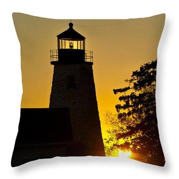 Dyce Head Lighthouse Throw Pillow by John Greim