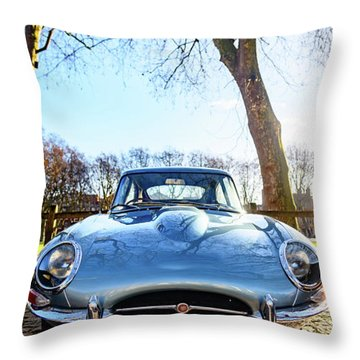E Type Jaguar Throw Pillow