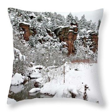East Verde Winter Crossing Throw Pillow