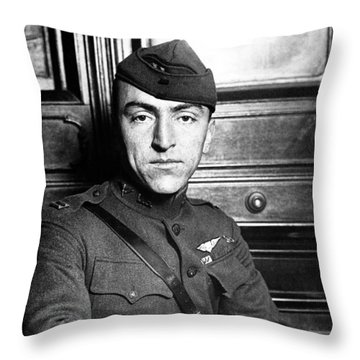 Throw Pillow featuring the photograph Eddie Rickenbacker by War Is Hell Store