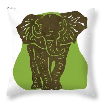 Elehpant Pop Art Etching Poster  Throw Pillow