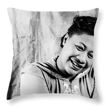 Ella Fitzgerald (1917-1996) Throw Pillow by Granger
