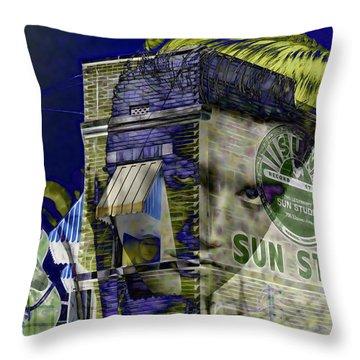 Elvis Presley Sun Studio Collection Throw Pillow by Marvin Blaine