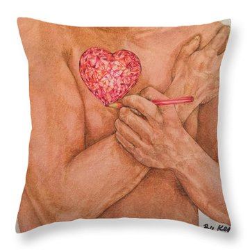 Embrace Love Throw Pillow by Kent Chua