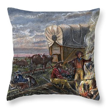 Emigrants To The West Throw Pillow by Granger