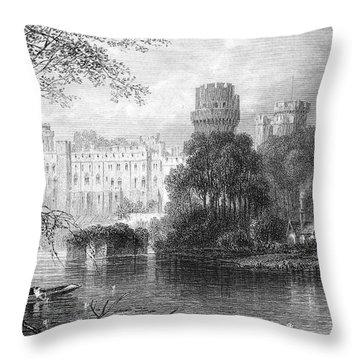 England: Warwick Castle Throw Pillow by Granger