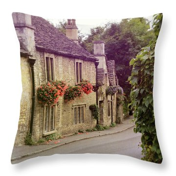 English Village Throw Pillow by Jill Battaglia