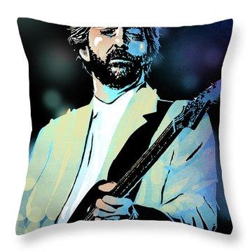 Eric Clapton Throw Pillow by Paul Sachtleben