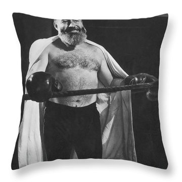 Ernest Hemingway Throw Pillow by Granger