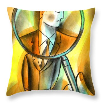 Bystander Paintings Throw Pillows