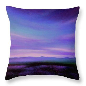 Evening Colours Throw Pillow