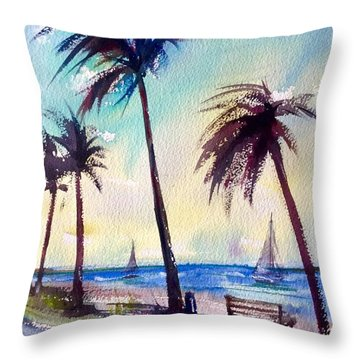 Evening Solitude Throw Pillow