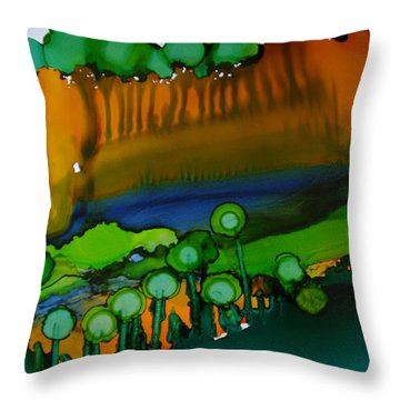 Exotic Landscape # 53. Throw Pillow