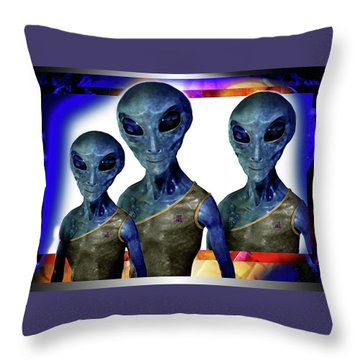 Explorers   Throw Pillow by Hartmut Jager