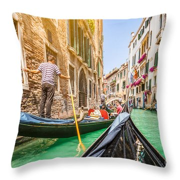Exploring Venice Throw Pillow
