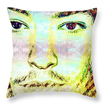 Ezra Miller Throw Pillow by Svelby Art