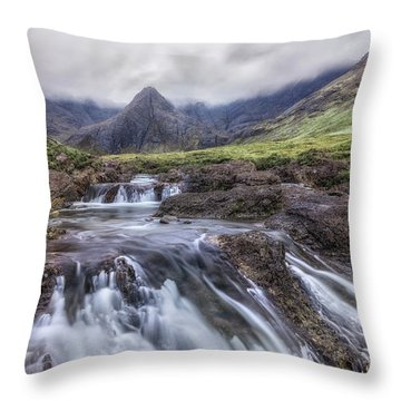 Fairy Pools - Isle Of Skye Throw Pillow