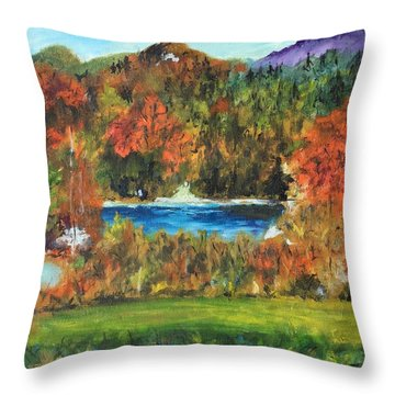 Fall In The Adirondacks Throw Pillow