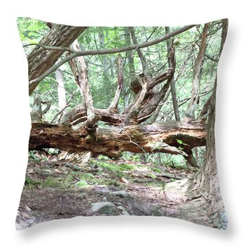 Fallen Tree Throw Pillow