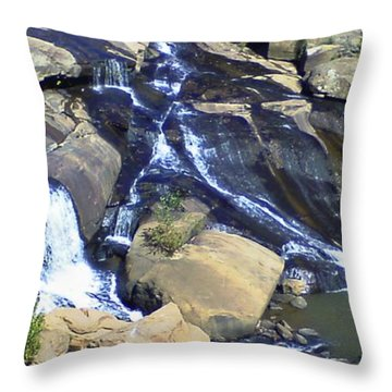 Falls Park Throw Pillow by Gina Lee Manley