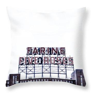 Farine Five Roses Throw Pillow
