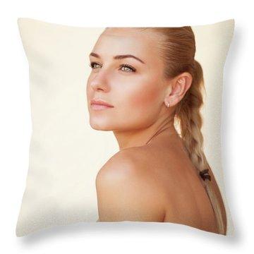 Fashion Portrait Throw Pillow