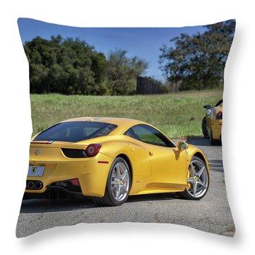 Throw Pillow featuring the photograph #ferrari #458italia #print by ItzKirb Photography