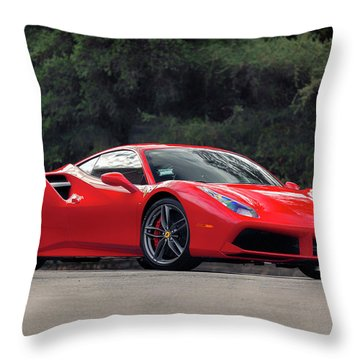#ferrari #488gtb Throw Pillow