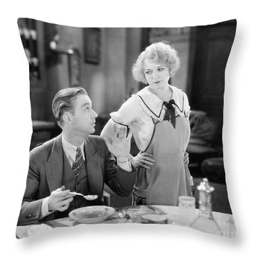 Film Still: Eating & Drinking Throw Pillow by Granger
