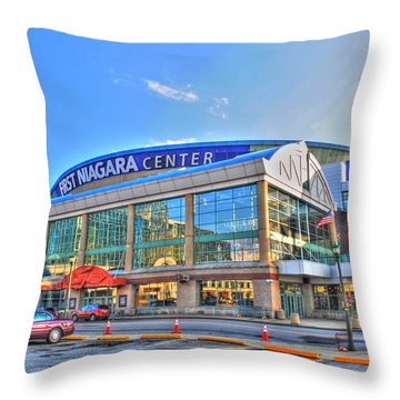 First Niagara Center Throw Pillow