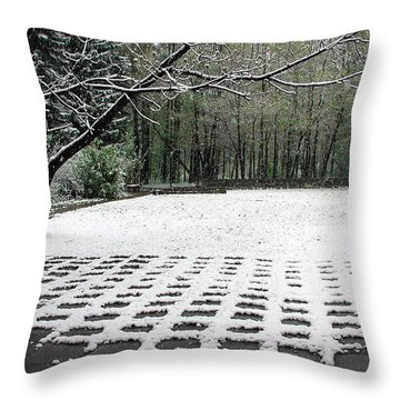 First Snow Fall Throw Pillow