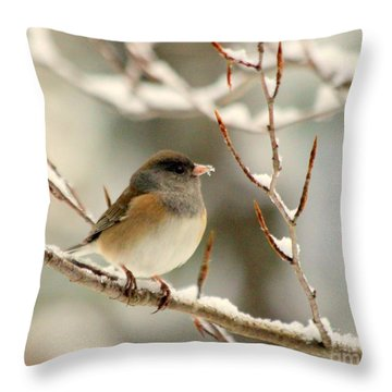 First Snow Throw Pillow by Irina Hays