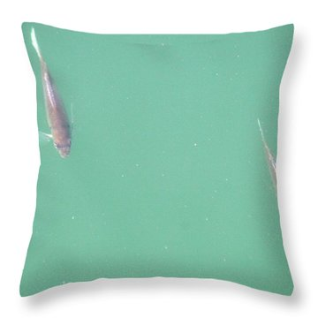 2 Fish In A Pond Throw Pillow