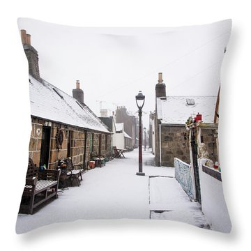 Fittie In The Snow Throw Pillow