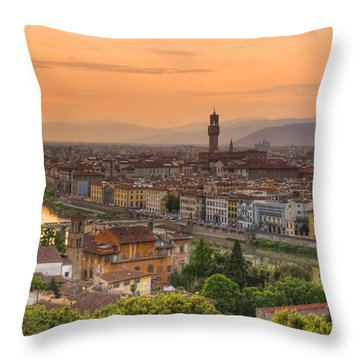 Florence Sunset Throw Pillow
