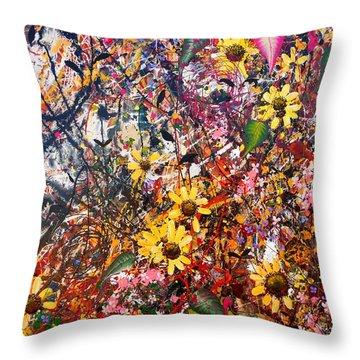 Flourish Detail Throw Pillow