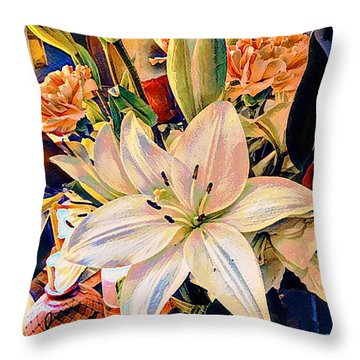 Flowers For You Throw Pillow by MaryLee Parker