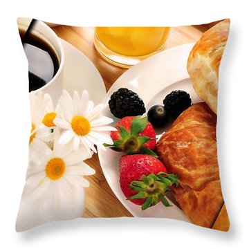 Food Collection Throw Pillow